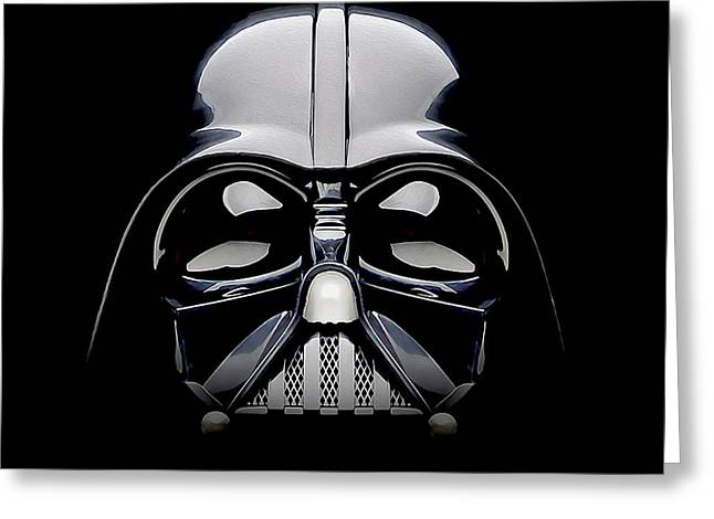 Darth Vader Helmet Greeting Card by Jon Neidert