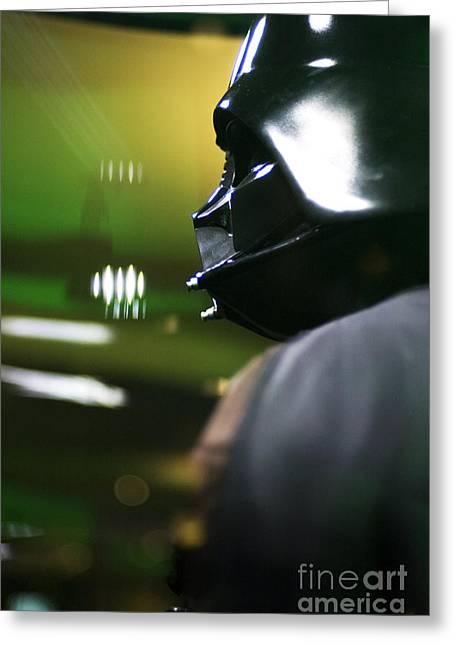 Movie Prop Greeting Cards - Darth Vader Greeting Card by Micah May