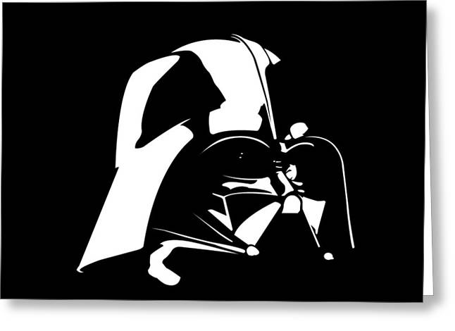 Bad Drawing Greeting Cards - Darth Vader Greeting Card by Nathan Shegrud