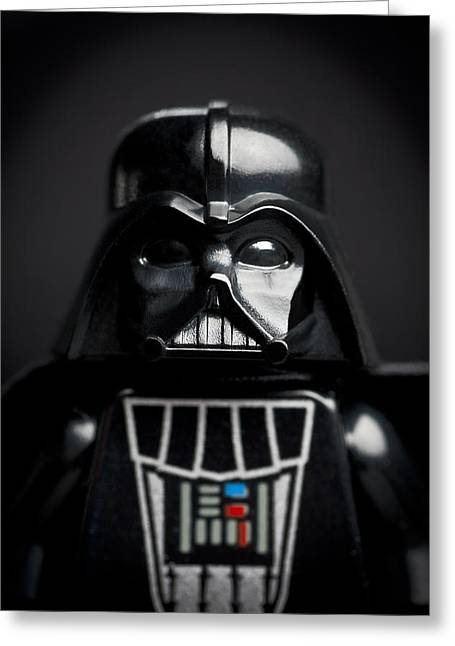 Toys Greeting Cards - Darth Vader Greeting Card by Samuel Whitton