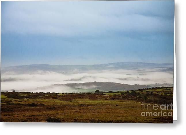 Heathland Greeting Cards - Dartmoor Mist Greeting Card by Jan Bickerton