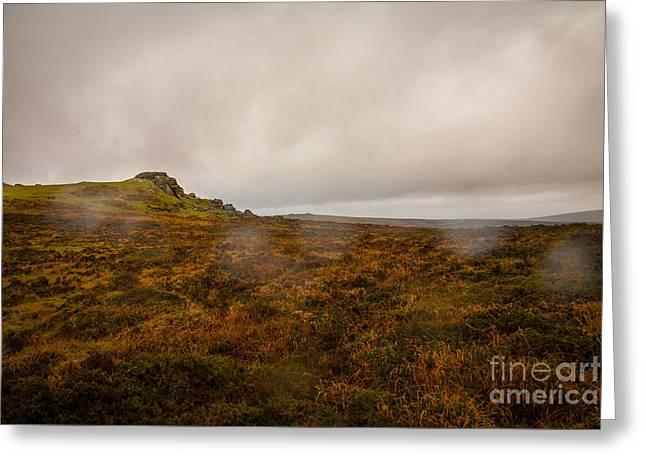 Dartmoor Rain Greeting Card by Jan Bickerton