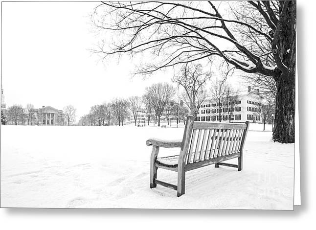 Ivy League Greeting Cards - Dartmouth College Green in Winter Greeting Card by Edward Fielding