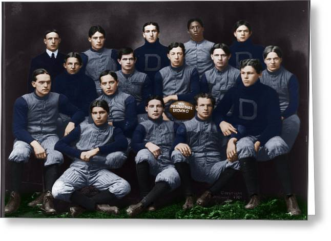 1901 Greeting Cards - Dartmouth football team 1901 by H. H. H. Langill Greeting Card by Celestial Images