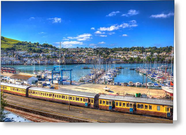 Dart Stations Greeting Cards - Dartmouth railway station Devon  Greeting Card by Michael Charles