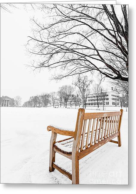 New Hampshire Greeting Cards - Dartmouth Winter Wonderland Greeting Card by Edward Fielding