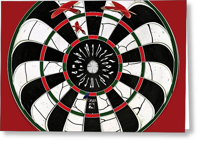 Skill Game Greeting Cards - Darts after a few Beers Greeting Card by Kaye Menner
