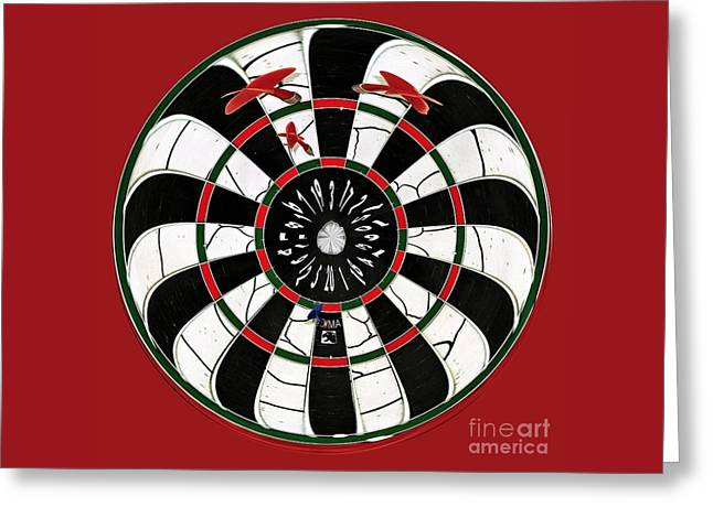 Darts After A Few Beers Greeting Card by Kaye Menner