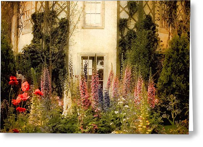 Lattice Greeting Cards - Darwins Garden Greeting Card by Jessica Jenney