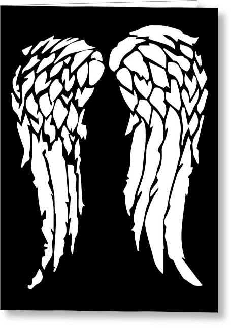 Patch Greeting Cards - Daryls Wings Greeting Card by Jera Sky