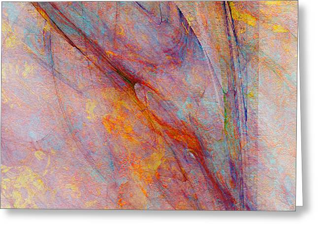 Print On Canvas Mixed Media Greeting Cards - Dash Of Spring - Abstract Art Greeting Card by Jaison Cianelli