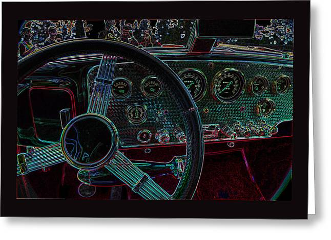 Gifts Greeting Cards - Dashboard 1936 Cord Automobile Greeting Card by Thom Zehrfeld