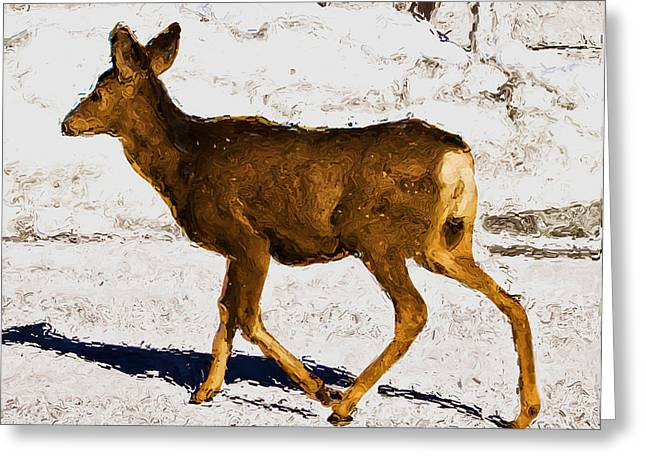 Snow Drifts Digital Art Greeting Cards - Dashing Through the Snow Greeting Card by Jo-Anne Gazo-McKim