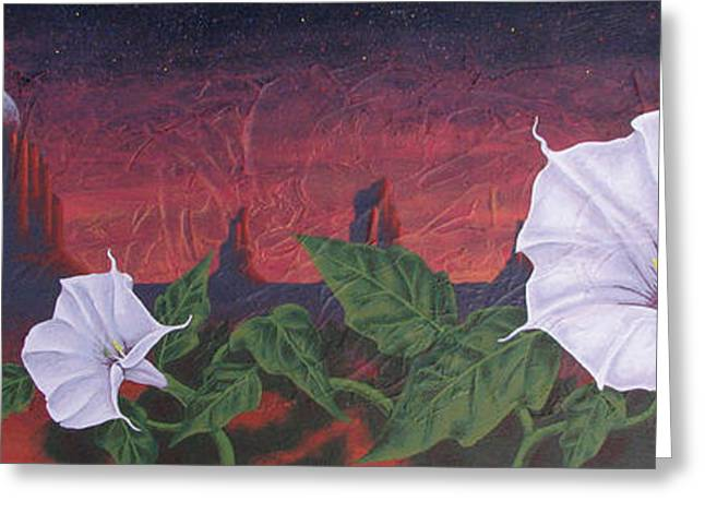 Datura Paintings Greeting Cards - Datura  Dream Greeting Card by Peter Nielsen