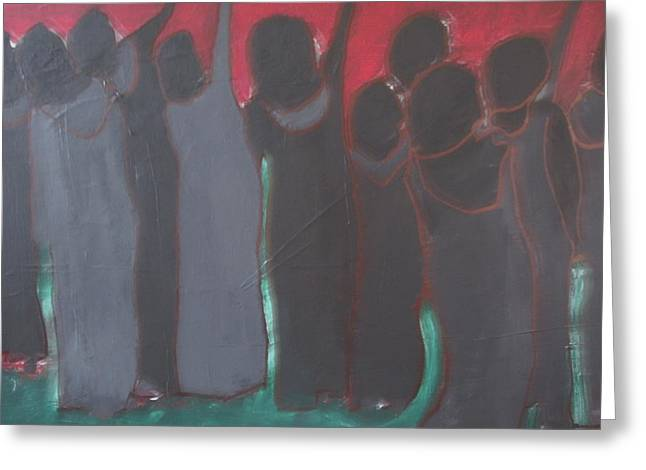 Oppressed Greeting Cards - Daughters Of A Lesser God  II Greeting Card by Omar Hafidi