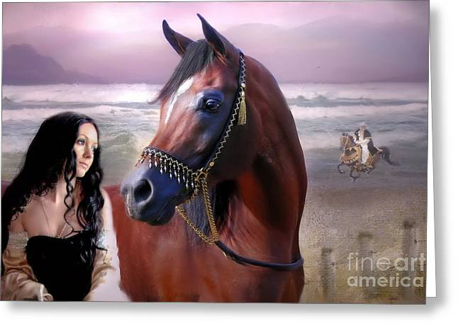 Medival Greeting Cards - Daughters Of The Desert Greeting Card by Angelgold Art