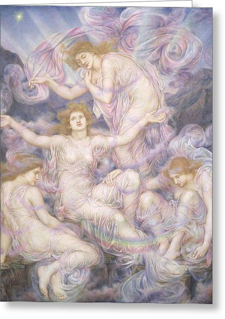 Williams Greeting Cards - Daughters of the Mist Greeting Card by Evelyn De Morgan