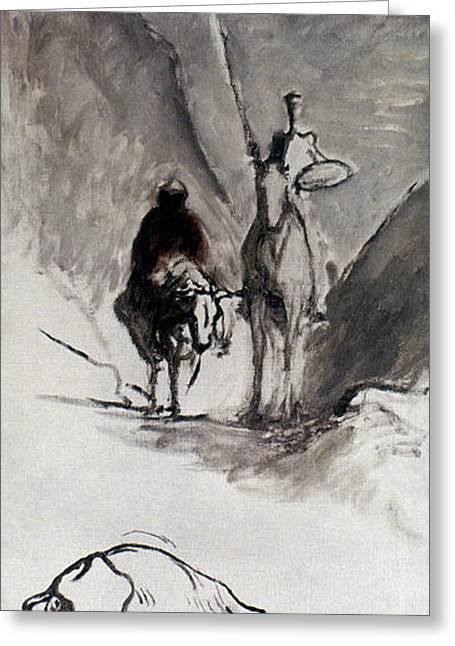 Sancho Panza Greeting Cards - Daumier: Don Quixote Greeting Card by Granger