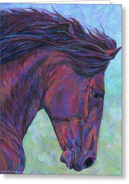 Michelle Pastels Greeting Cards - Dauntless Greeting Card by Michelle Bostock