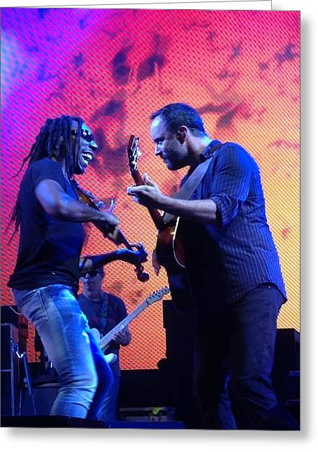 Boyd Tinsley Greeting Cards - Dave Matthews and Boyd Tinsley Greeting Card by Kathryn A Thompson