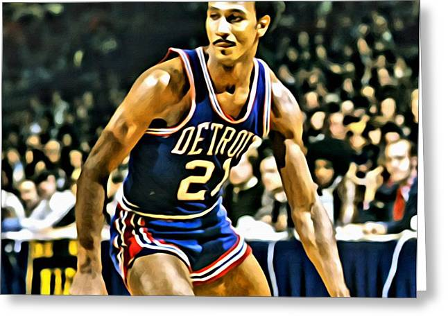 Slamdunk Greeting Cards - Dave Bing Greeting Card by Florian Rodarte