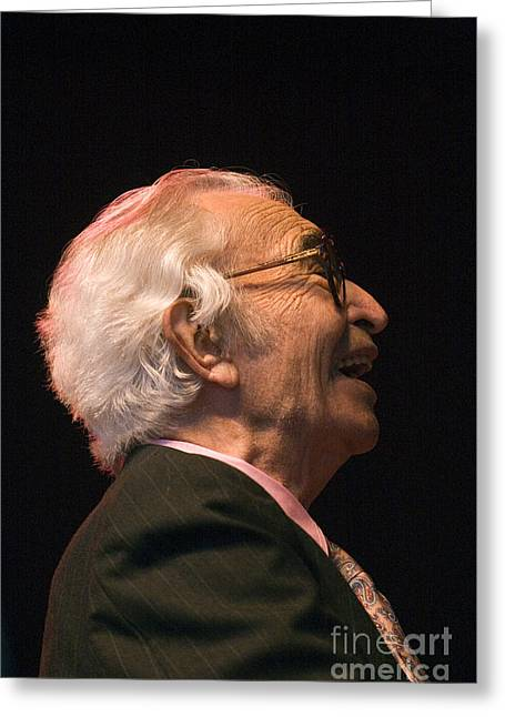 Brubeck Greeting Cards - Dave Brubeck Enlightened Greeting Card by Craig Lovell