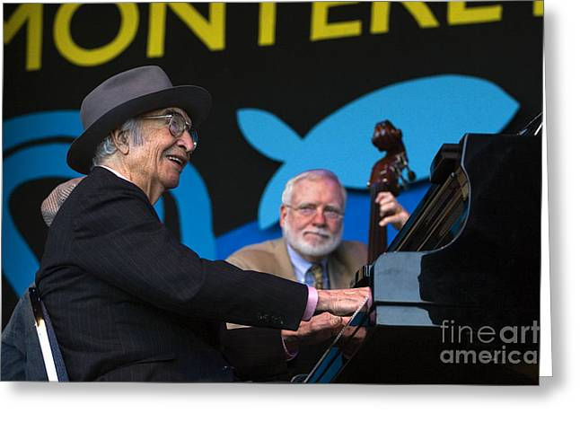 Brubeck Greeting Cards - Dave Brubeck Monterey Suite Greeting Card by Craig Lovell