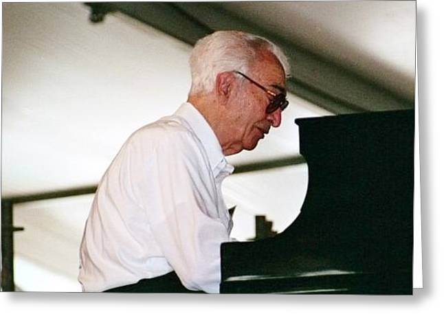 Brubeck Greeting Cards - Dave Brubeck Greeting Card by William Morgan