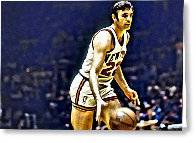 Dave Debusschere Greeting Card by Florian Rodarte