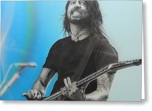 'Dave Grohl' Greeting Card by Christian Chapman Art