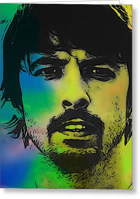 Foo Fighters Greeting Cards - Dave Grohl  Greeting Card by Dan Sproul