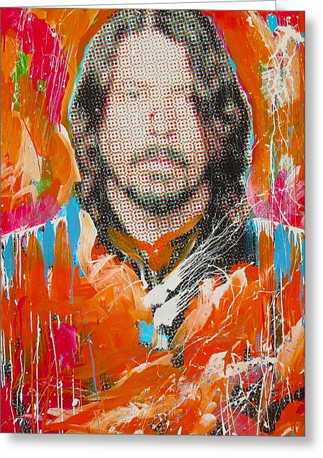 Foo Fighters Greeting Cards - Dave Grohl Greeting Card by Elliott From