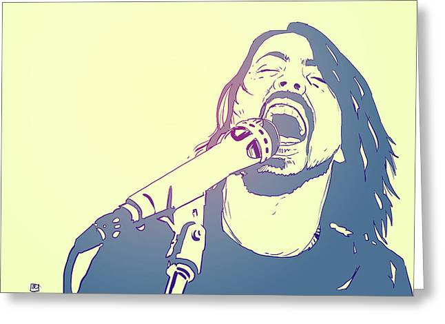 Star Drawings Greeting Cards - Dave Grohl Greeting Card by Giuseppe Cristiano