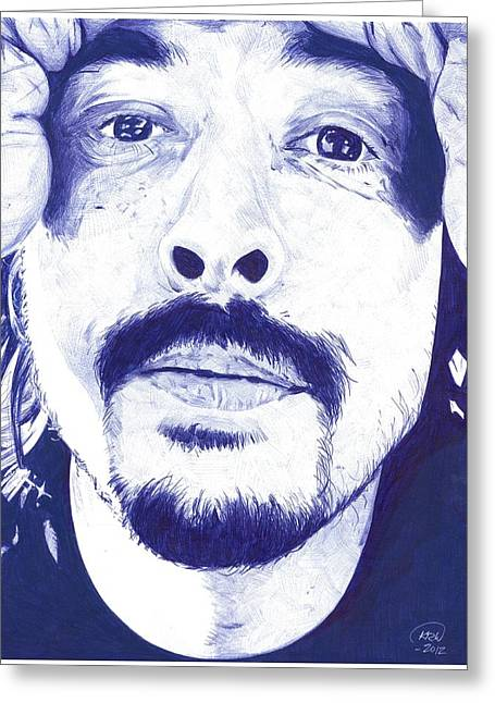 Kyle Willis Greeting Cards - Dave Grohl Greeting Card by Kyle Willis