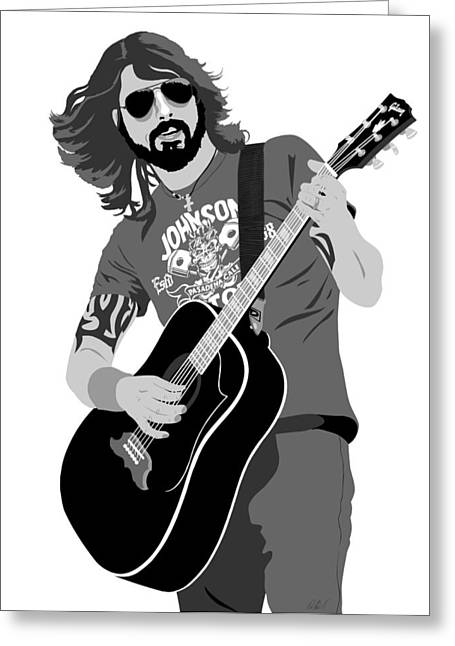 Dave Digital Art Greeting Cards - Dave Grohl Greeting Card by Paul Dunkel