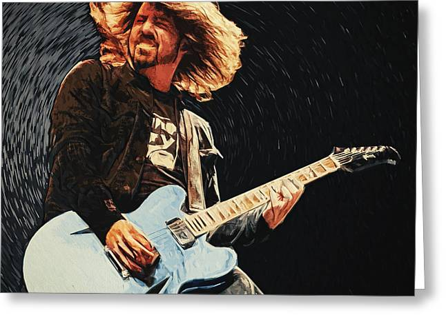 Foo Fighters Greeting Cards - Dave Grohl Greeting Card by Taylan Soyturk