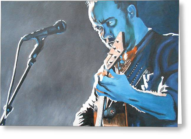 Dave Matthews Paintings Greeting Cards - Dave Matthews 1 Greeting Card by Kevin J Cooper Artwork