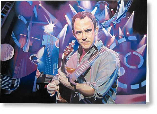 Lead Singer Greeting Cards - Dave Matthews and 2007 Lights Greeting Card by Joshua Morton