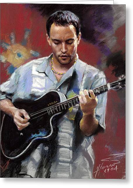 Dave Greeting Cards - Dave Matthews Greeting Card by Viola El