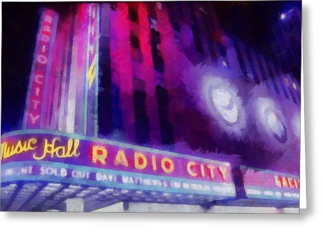 Live Music Greeting Cards - Dave Matthews At Radio City Music Hall Greeting Card by Dan Sproul