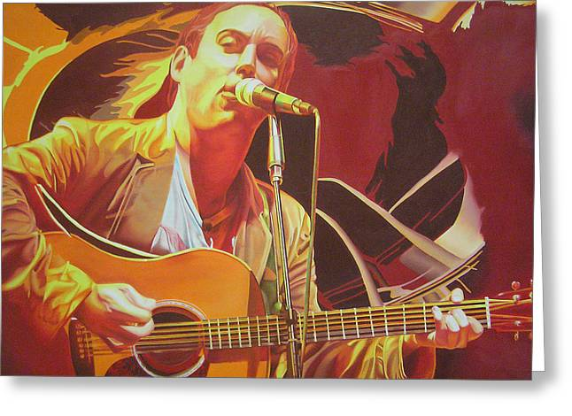 Lead Singer Greeting Cards - Dave matthews at Vegoose Greeting Card by Joshua Morton