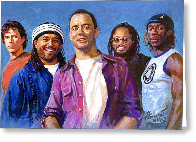 Boyd Tinsley Drawings Greeting Cards - Dave Matthews Band Greeting Card by Viola El