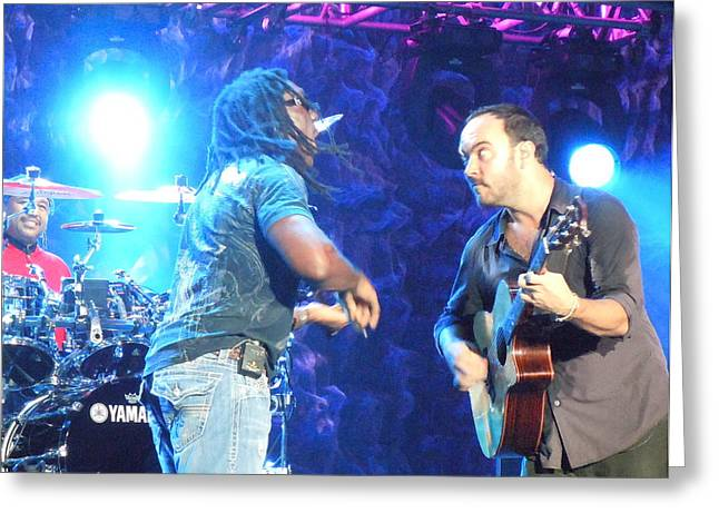 Carter Beauford Greeting Cards - Dave Matthews Band Greeting Card by Pamela Schreckengost