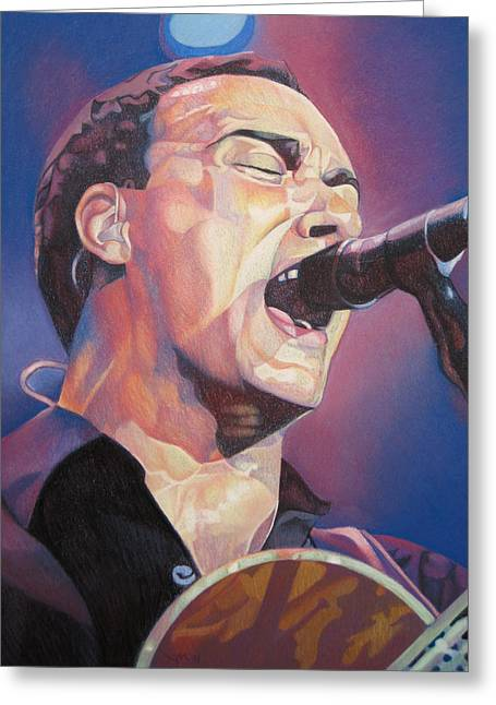 Lead Singer Greeting Cards - Dave Matthews Colorful Full Band Series Greeting Card by Joshua Morton