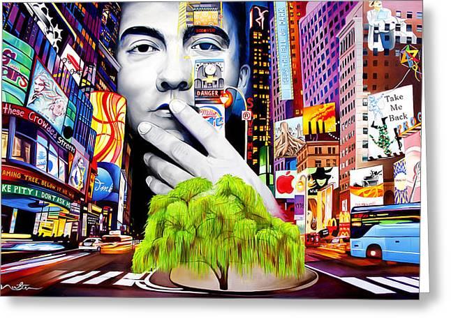 Dave Matthews Dreaming Tree Greeting Card by Joshua Morton
