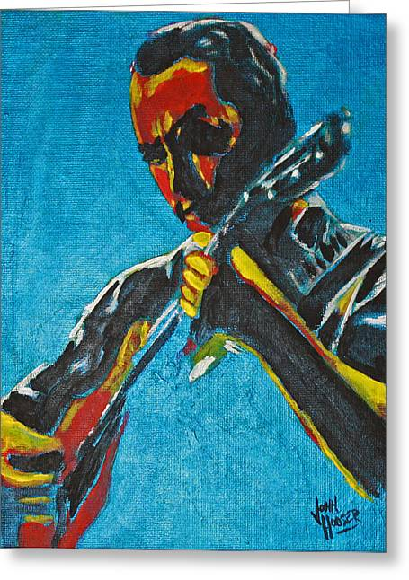 Dave Matthews Paintings Greeting Cards - Dave Matthews  Greeting Card by John Hooser