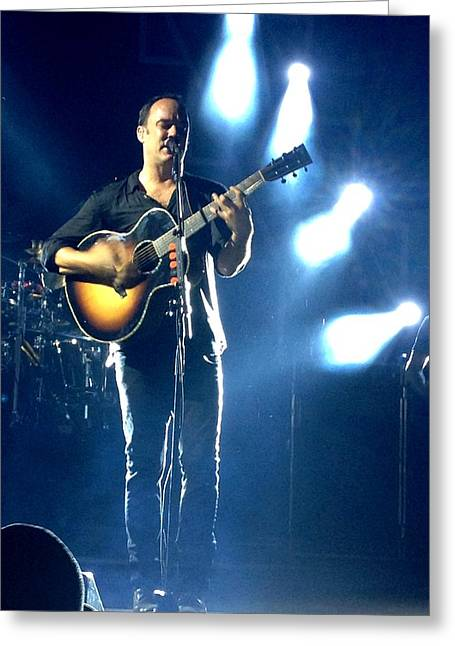Dave Matthews Band Concert Greeting Cards - Dave Matthews Greeting Card by Kathryn A Thompson