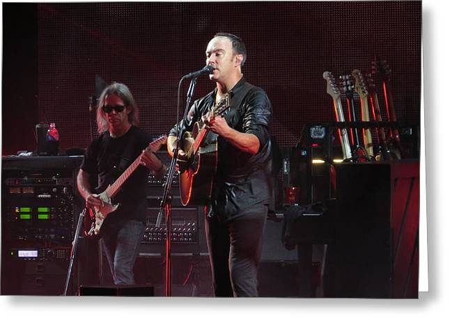 Dmb Greeting Cards - Dave Matthews Live Greeting Card by Aaron Martens