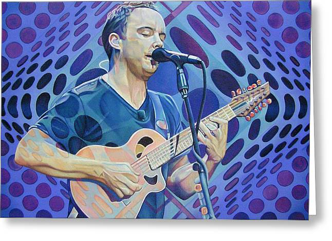 Lead Singer Greeting Cards - Dave Matthews Pop-Op Series Greeting Card by Joshua Morton