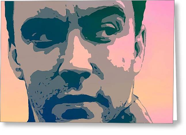 Dave Digital Art Greeting Cards - Dave Matthews Portrait Poster Greeting Card by Dan Sproul